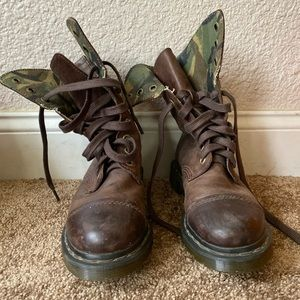 RARE Leather and Camo Dr. Marten Triumph boots